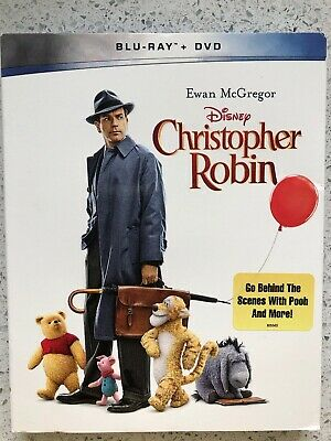 Disney Christopher Robin (Blu-Ray Disc  + Dvd) Slipcover Included - Brand New