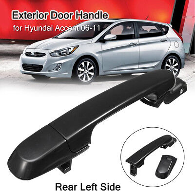 Gloss Outside Exterior Door Handle Rear Left Side For Hyundai Accent 2006-2011