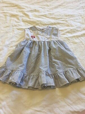 Vintage Cotton Baby Girls Size 0-1 Maxi Dress Top Excellent Condition Boho Hippy