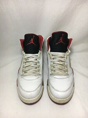 """newest collection 18503 6b854 Nike Air Jordan 5 Retro """"Fire Red"""" Black Tongue Men s Size 10 (136027"""