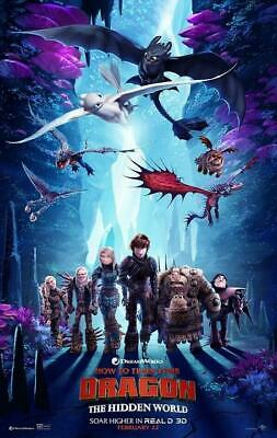 """How to Train Your Dragon 3 The Hidden World Movie Poster Art 13x20"""" 24x36"""" 27x40"""