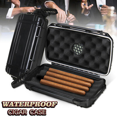 5 Cigar Humidor Caddy Case Portable Holder Waterproof Dust-proof Home Travel !