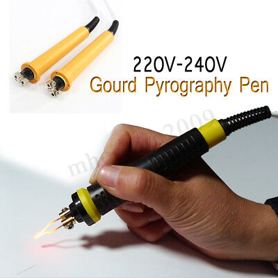 50W Gourd Pyrography Wood Burning Pen Soldering Tool Crafts Iron 220-240V  !