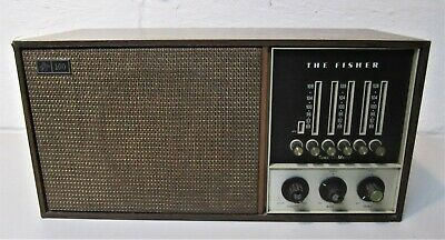 FISHER 100 FM MICROCEIVER RADIO w/  Tune-o-matic presets- VINTAGE COLLECTABLE