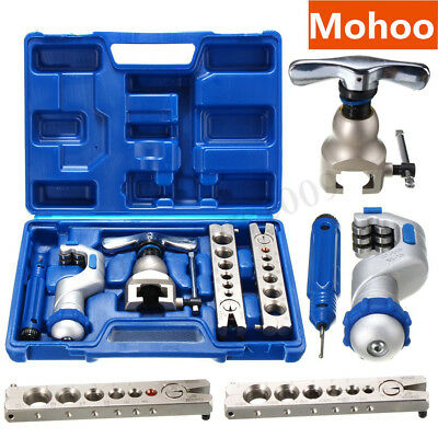 Ratchet Flaring Flare Tool Kit R410A Refrigeration Eccentric Cone + Pipe Cutter