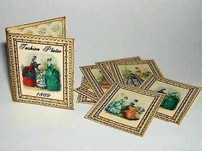 Dollhouse Miniature 1/12th scale Fashion Plate Folder/haberdashery/sewing shop