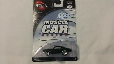 Hot Wheels 100% Muscle Car Review Series Chevrolet Chevelle Real Riders 1/15K