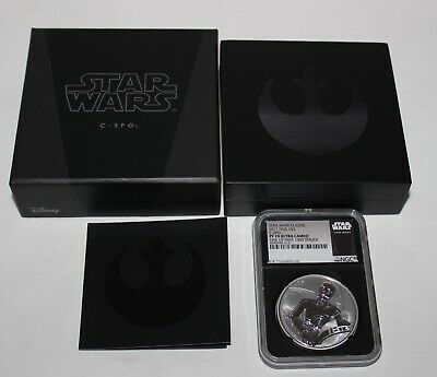 2017 Niue Fine Silver $2 Star Wars C-3Po Ngc Pf70 Ultra Cameo With Box Nr