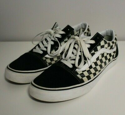 a173bd3e2c32c7 Vans Old Skool Primary Check Sneakers Gr. 46 Schwarz Weiß Kariert  Checkerboard