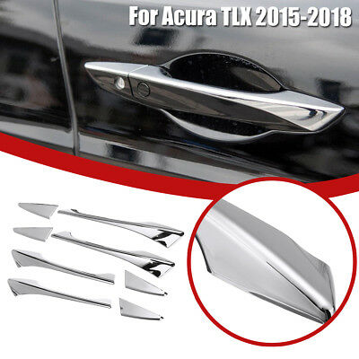 8Pcs/Set Chrome Silver Side Door Handle Cover Trim Fit For Acura TLX 2015-2018 !