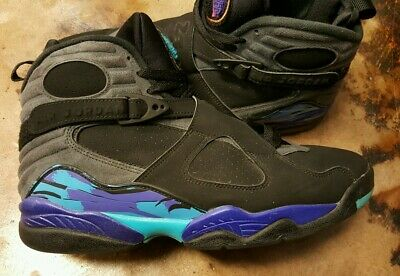 1993 NIKE AIR Jordan VIII Boys Size 8 Playoffs Black Bred kids youth ... 19bfc511c