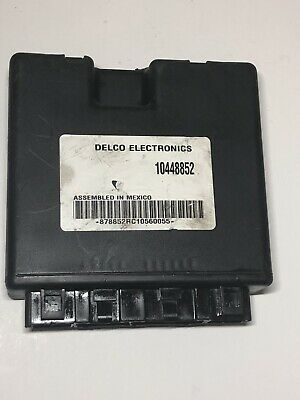 2002 buick century 10448852 chassis body control module bcm, oem