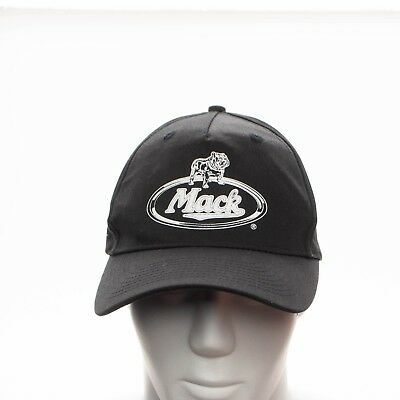 c7d4a001a34 Mack Trucks Black Snapback Cap Hat Screenprinted Bulldog Logo VTG Style