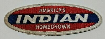 Vintage America's Indian Homegrown Patch Motorcycle Logo