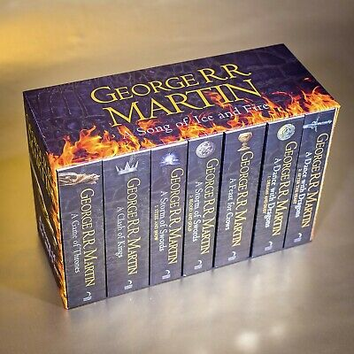 GAME OF THRONES 1-7 Book Box Set Song Of Ice Fire George R R Martin COLLECTABLE
