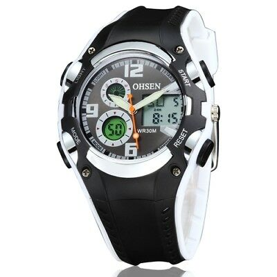 OHSEN Mens Waterproof Sport Watch LED Backlight, Alarm, Digital(534)