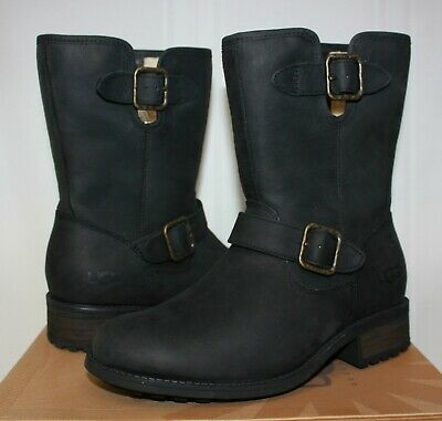 a148e760dba UGG WOMEN'S CHANEY black leather boots size 6 New With Box!
