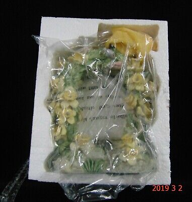 2000 Avon Tabletop WATERCOLOR MEMORIES WIND CHIME Floral Arbor Bluebirds NIB