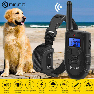 Digoo Waterproof LCD Electric Remote Dog Shock Bark Collar Trainer Training  !