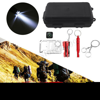 SOS Emergency Camping Survival Equipment Kit Outdoor Tactical Hiking Gear Tool !