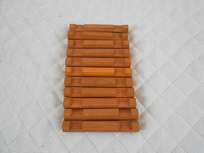 "Lincoln Logs 4-1//2/"" Round Wooden 2 Notch Lot of 11 Pieces Dark Brown Cherry"