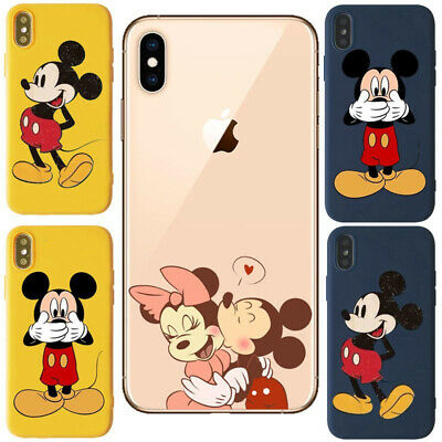new style 4e98b 312fd MICKEY AND MINNIE mouse Soft Back Cover case For Iphone 5 6 7 8 X XR XS MAX