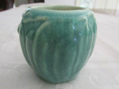 Melrose Small Square Gumnut and Gum Leaf Vase Australian Pottery Aus Pottery