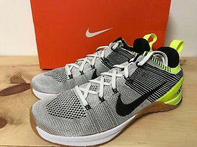 e33cff211c0013 Nike Metcon DSX Flyknit 2 Crossfit Training Shoes White Black 924423-107  Size 8