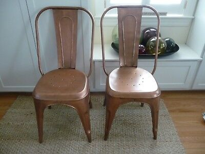 Astonishing Anthropologie Redsmith Copper Dining Chairs 2 Side 1 Arm Unemploymentrelief Wooden Chair Designs For Living Room Unemploymentrelieforg