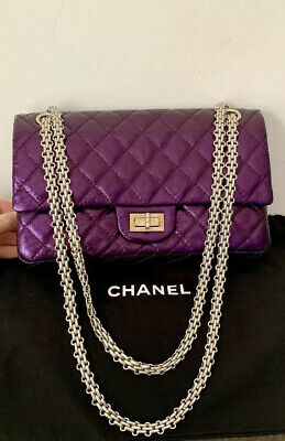 31493c23828ce6 Chanel Light Purple Quilted Patent Leather Classic Square Mini Flap Bag.