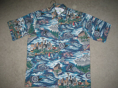 27e69a67 Seattle Mariners Hawaiian Shirt Classic Mariner's Legacy Reyn Spooner Sz:  Small