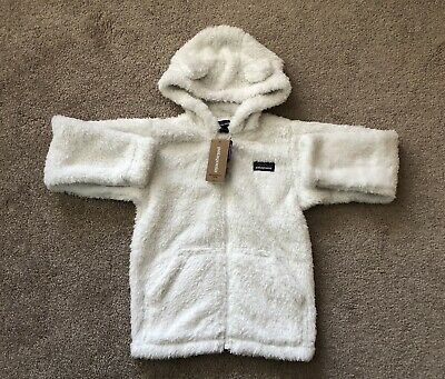 957066029cd28 NEW PATAGONIA FURRY Friends White Beanie Hat With Ears Infant ...