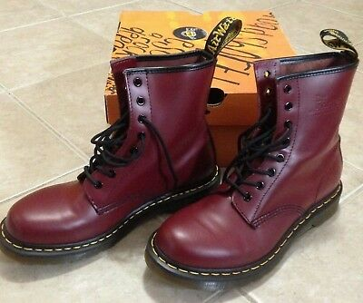 1ddd26ee2cad DR. MARTENS WOMEN S Shoes 1460 W 8 Eye Boots 11821600 Cherry Red ...