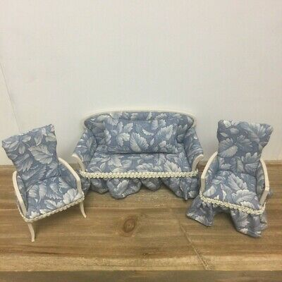 Artisan Magee Handmade Sofa Chair Set Dollhouse Miniature Living Room Furniture