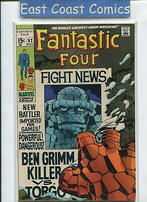 Fantastic Four #92 -  (Very Good 4.0) Silver Age Marvel