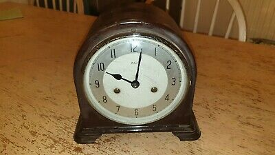 1950's Smiths Enfield Chiming Bakelite Domed Clock , Pendulum