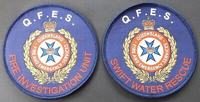 QFES FIU & Swift Water Rescue patches - Collectors Patches Not Official
