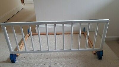 Wooden Bed Guard in White Adjustable