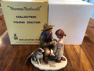 Boy Scout Norman Rockwell Figurine 1977 The Young Doctor