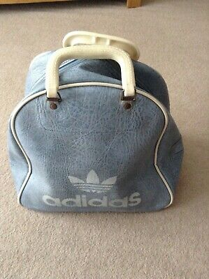 c13bf99c755 VINTAGE ADIDAS SMALL Holdall Weekend Leather Details Retro Sports ...