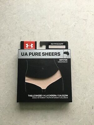 18c83fdb2970 Under Armour Pure Sheers Hipster Underwear 1276493-295 - Extra Small New