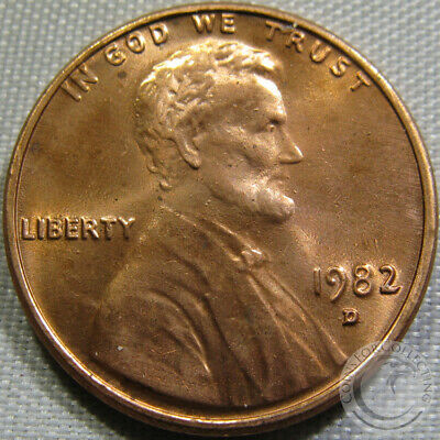 1982-D Unc Zld Lincoln Memorial Penny Nice Coin **Make An Offer**