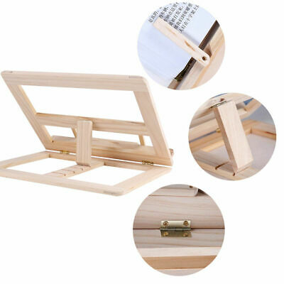 Adjustable Wooden Book Stand Cook Book Display Folding Holder 25*31CM Fine WA