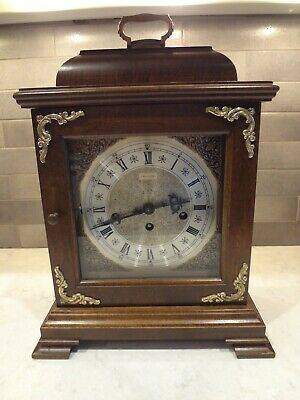 Hamilton Wheatland Westminster Chime Bracket Shelf Mantle Clock 340 020 Nice