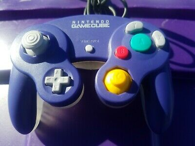 Official Nintendo GameCube Controller Pad Indigo Purple Clear GC Rare