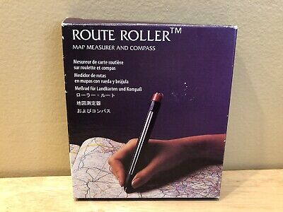 Vintage Roller Route Map Measurer and Compass  Free Shipping