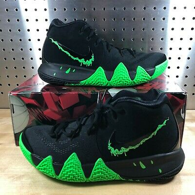 NEW MEN S NIKE Kyrie 4 Halloween Black Rage Green Irving Shoes Size ... 1a369688b