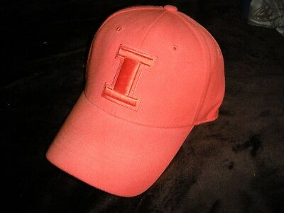 571501e40a1 Illinois Fighting Illini All Orange Hat Cap Fitted Stretch TOW Top of the  World