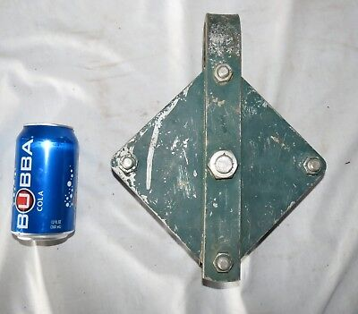 """Stainless Steel Heavy Duty Cable Block  6""""Dia. Pulley for 5/8"""" Wire Rope 12 lbs."""
