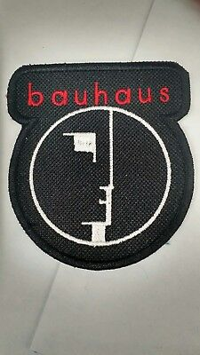 Bauhaus Embroidered Patch IRON/SEW ON Goth Sisters of Mercy The Cure B/W